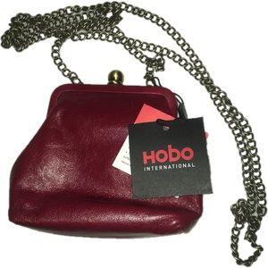 NWT Hobo Intl Libby Burgundy Leather Mini coin